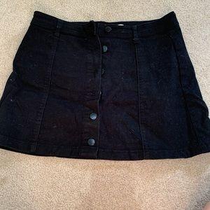 Dresses & Skirts - Black button up skirt